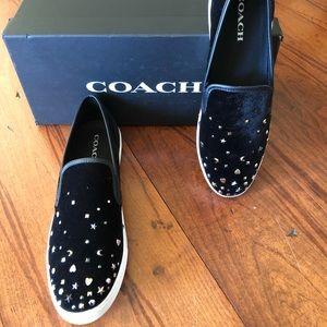NIB Coach Parkside stardust black shoes sz 9